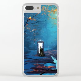Tardis And The Doctor Lost In The Forest Clear iPhone Case