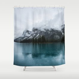Smokey Mountains Landscape Photography Alberta Shower Curtain