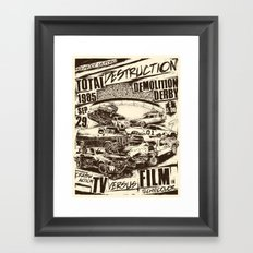 Demolition Derby Framed Art Print