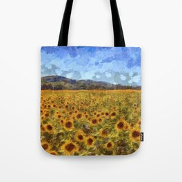 Vincent Van Gogh Sunflowers Tote Bag