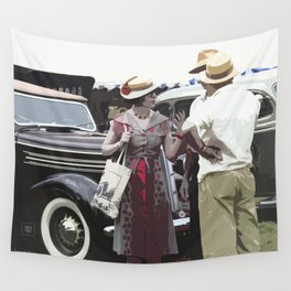 At The Races, 1937 Style Wall Tapestry