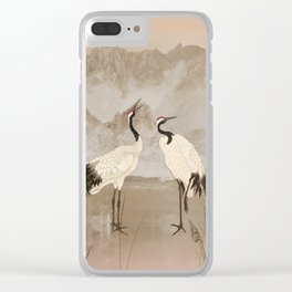 Wintering Manchurian Cranes Clear iPhone Case