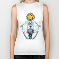 skyfall Biker Tanks featuring Cosmic Smoking Skyfall Dragon by Pr0l0gue