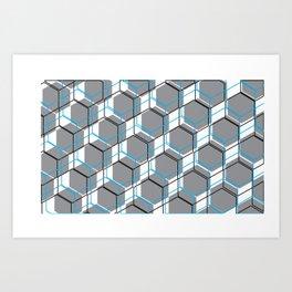 Tri-cubed Art Print