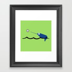 Water Polo Narwhal Framed Art Print