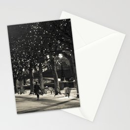 Night and lights Stationery Cards