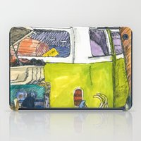 vw bus iPad Cases featuring VW Bus Campsite by Barb Laskey Studio
