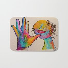 American Sign Language MOTHER Bath Mat