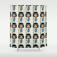 army Shower Curtains featuring Army pattern by Rceeh