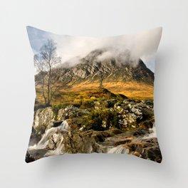 Buachaille Etive Mor Throw Pillow
