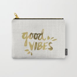 Good Vibes – Gold Ink Carry-All Pouch