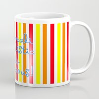 mary poppins Mugs featuring supercalifragilisticexpialidocious! I Mary Poppins by Jessica's Illustrationart