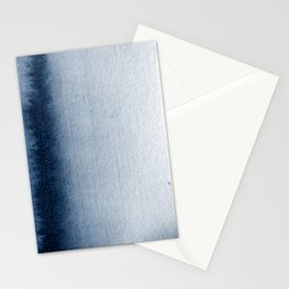 Indigo Vertical Blur Abstract Stationery Cards