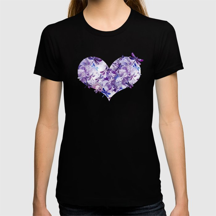 Dragonfly Lullaby in Pantone Ultraviolet Purple T-shirt