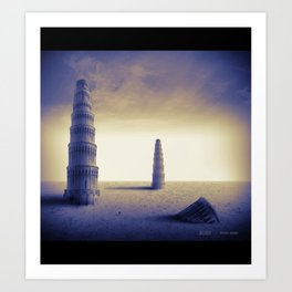 The towers Art Print