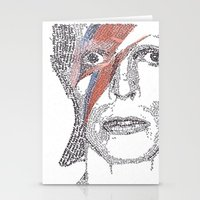 bowie Stationery Cards featuring Bowie by S. L. Fina