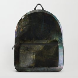 Vintage Woman Pop With Modern Highlights Sepia Square Backpack