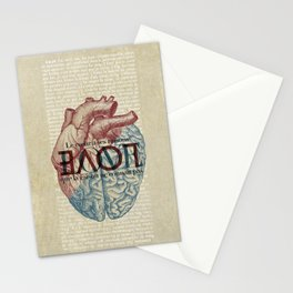 Love is...heart and reason Stationery Cards