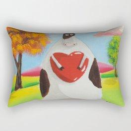 Cute cow with a heart Rectangular Pillow