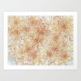 Antique Plans (Cityspace #181) Art Print