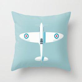 Spitfire WWII fighter aircraft - Sky Throw Pillow