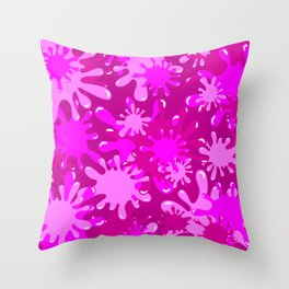 Slime in Hot Pinks Throw Pillow