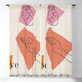 Love: Sixties Blackout Curtain