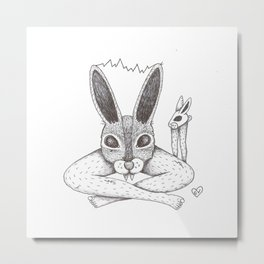 Fluffy Bunny- Shock Therapy Metal Print