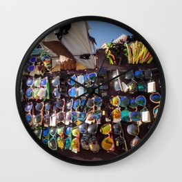 Beach optician Wall Clock