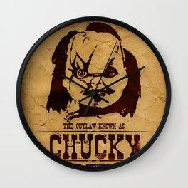 Wanted Chucky Wall Clock