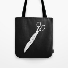 Feathered - On Black. Tote Bag