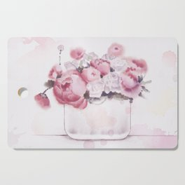 The tender touch of peonies Cutting Board