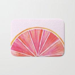 Sunny Grapefruit Watercolor Bath Mat