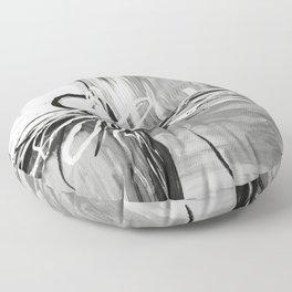 Abstract modern, black white Floor Pillow