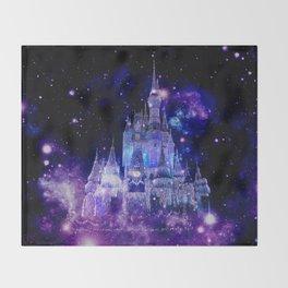 Celestial Palace : Purple Blue Enchanted Castle Throw Blanket