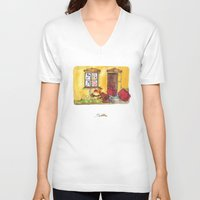 witch V-neck T-shirts featuring Witch by Pepan