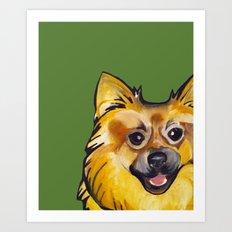 Molly the Pomeranian Art Print