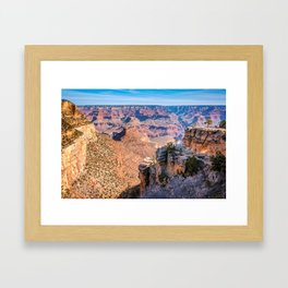 Morning at Bright Angel Trail - Grand Canyon Framed Art Print