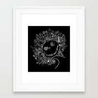 jack skellington Framed Art Prints featuring Jack Skellington by Shepaki