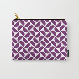 HALF-CIRCLES, PURPLE Carry-All Pouch
