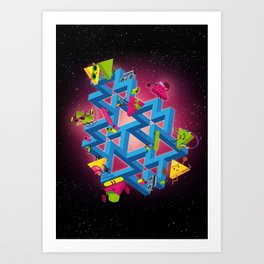 The impossible playground Art Print