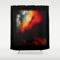 glitch Shower Curtains featuring GLITCH by Godminton
