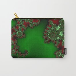 Mandelbrot - Green Carry-All Pouch
