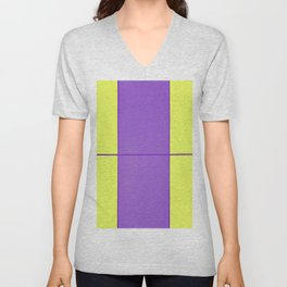 August - Purple and Yellow Unisex V-Neck