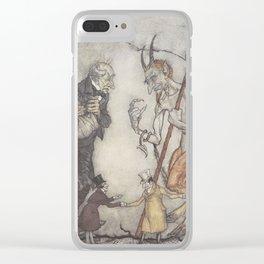 "Arthur Rackham - Dickens' Christmas Carol (1915): ""How are you?"" said one. Clear iPhone Case"
