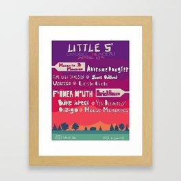 Little 5 Double Header April 13 Framed Art Print