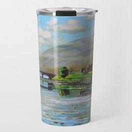 Scottish fine art painting of Eilean Donan castle Travel Mug