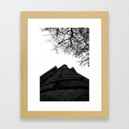Tree Village Framed Art Print