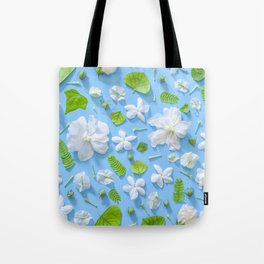 Leaves and flowers pattern (16) Tote Bag