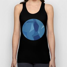 Blue Abstract Map Unisex Tank Top